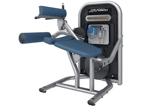 Factory photo of a Refurbished Life Fitness Circuit Series Push Button Resistance Seated Leg Curl