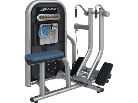 Factory photo of a Refurbished Life Fitness Circuit Series Push Button Resistance Seated Row