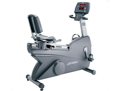 Factory photo of a Used Life Fitness Lifecycle 90R Recumbent Bike