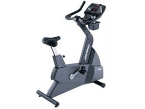 Factory photo of a Refurbished Life Fitness Lifecycle 9100 Next Generation Upright Bike
