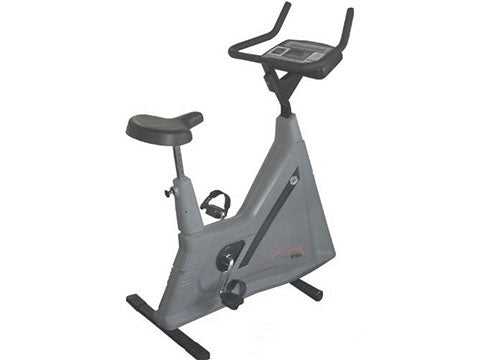 Factory photo of a Refurbished Life Fitness Lifecycle 9100 Upright Bike Belt Drive