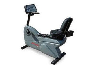 Factory photo of a Refurbished Life Fitness LifeCycle 9100R Recumbent Bike Belt Drive