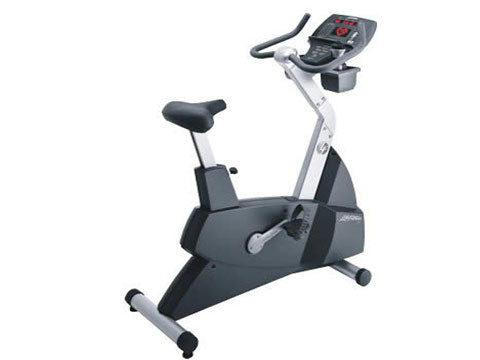 Factory photo of a Used Life Fitness Lifecycle 93C Upright Bike