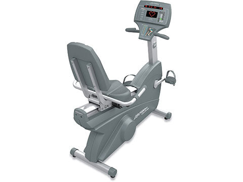 Factory photo of a Used Life Fitness Lifecycle 93Ri Recumbent Bike