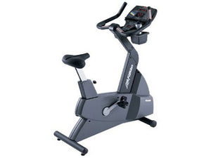 Factory photo of a Refurbished Life Fitness Lifecycle 9500HRT Next Generation Upright Bike