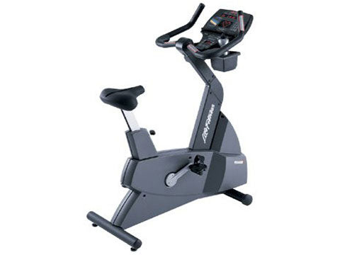 Factory photo of a Used Life Fitness Lifecycle 9500HRT Next Generation Upright Bike