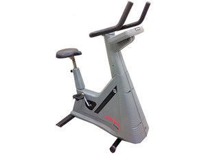 Factory photo of a Refurbished Life Fitness Lifecycle 9500HRT Upright Bike Belt Drive
