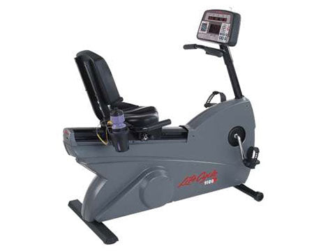 Factory photo of a Refurbished Life Fitness Lifecycle 9500RHRT Dovetail Recumbent Bike Belt Drive