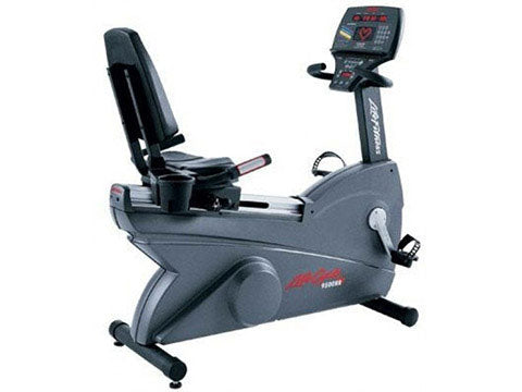 Factory photo of a Used Life Fitness Lifecycle 9500RHRT Next Generation Recumbent Bike