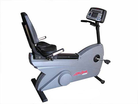 Factory photo of a Used Life Fitness Lifecycle 9500RHRT Recumbent Bike Belt Drive