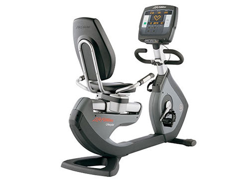 Factory photo of a Refurbished Life Fitness Lifecycle 95R Achieve Recumbent Bike