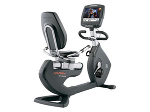 Factory photo of a Used Life Fitness Lifecycle 95R Engage Recumbent Bike