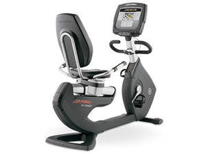 Factory photo of a Used Life Fitness Lifecycle 95R Inspire Recumbent Bike