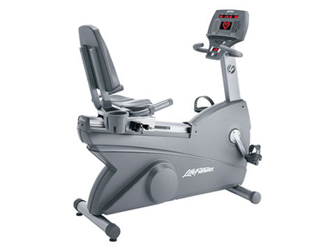 Factory photo of a Used Life Fitness Lifecycle 95Ri Recumbent Bike