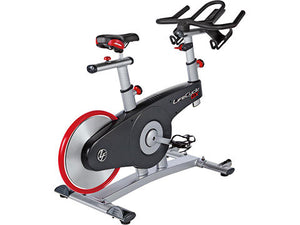 Factory photo of a New Life Fitness Lifecycle GX Indoor Group Cycling Bike