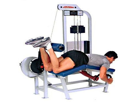 Factory photo of a Refurbished Life Fitness Pro Lying Leg Curl