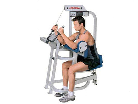 Factory photo of a Refurbished Life Fitness Pro Tricep Extension