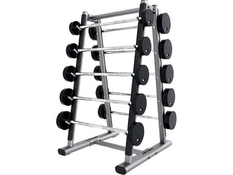 Factory photo of a Used Life Fitness Signature 10 pair Barbell Rack