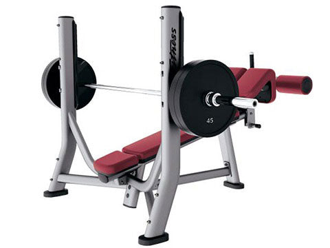 Factory photo of a Refurbished Life Fitness Signature Olympic Decline Bench