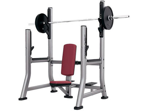 Factory photo of a Refurbished Life Fitness Signature Olympic Military Bench