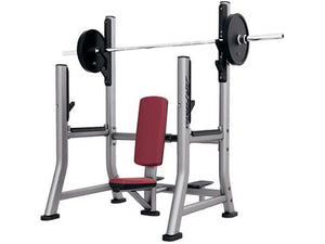 Factory photo of a Used Life Fitness Signature Olympic Military Bench