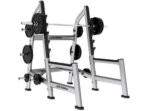 Factory photo of a Refurbished Life Fitness Signature Olympic Squat Rack