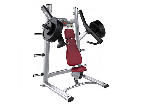 Factory photo of a Used Life Fitness Signature Plate Loaded Shoulder Press