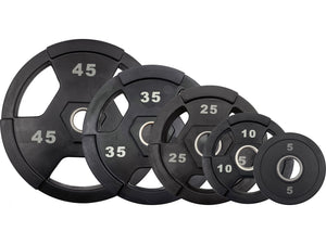 M-Fitness Laser Cut Olympic Grip Plate Set