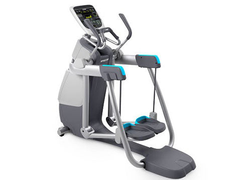 Factory photo of a Refurbished Precor AMT 833 with Open Stride and P30 Console