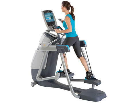 Factory photo of a Refurbished Precor AMT 885 with Open Stride and P80 Console