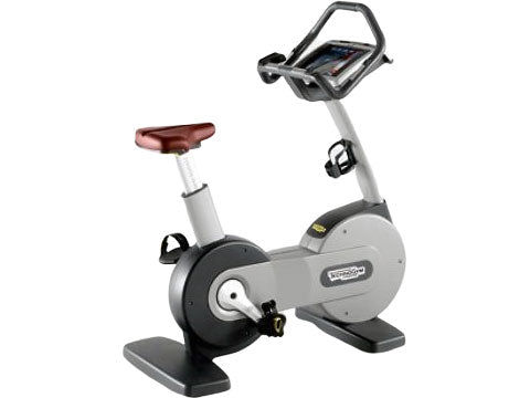 Factory photo of a Refurbished Technogym Excite 700 Upright Bike with TV