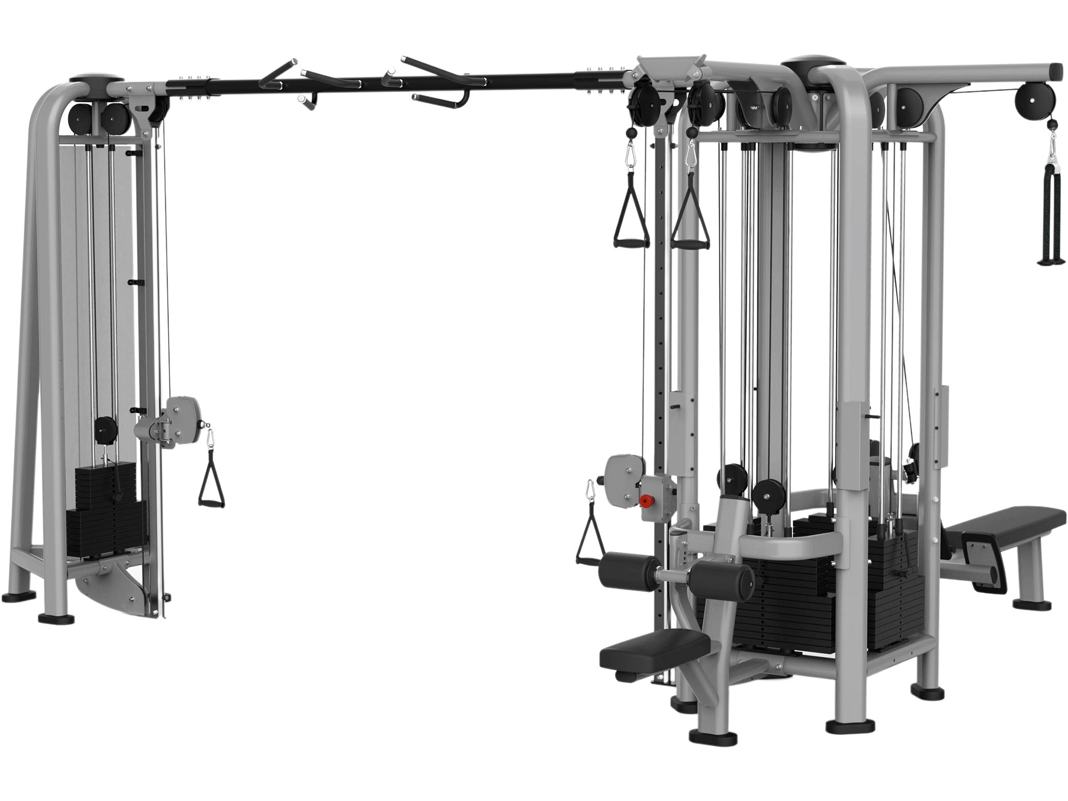 Factory photo of a New Sportgear 5 stack Multi Station with Dual Pulley Pulldown and Row