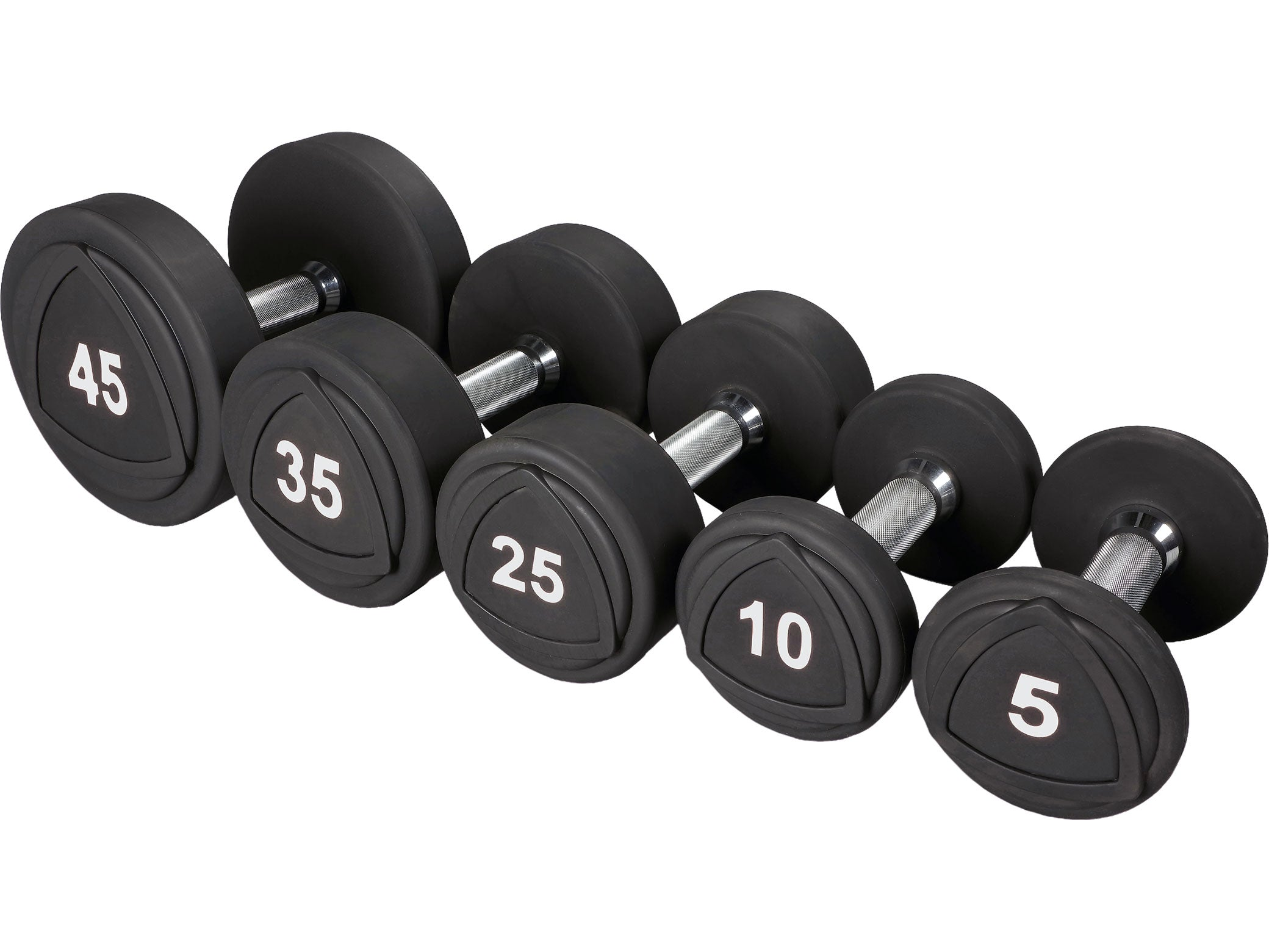 Sportgear Urethane Dumbbell Set 5 to 50 lbs