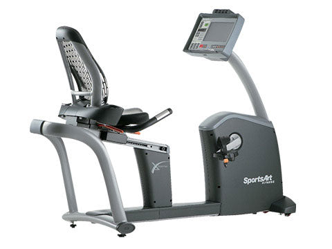Factory photo of a Refurbished SportsArt C580R Commercial Recumbent Bike