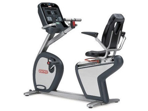 Factory photo of a Refurbished Star Trac E Series Recumbent Bike Generation 1