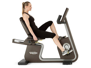 Factory photo of a Refurbished Technogym ARTIS Recumbent Bike with Unity Display