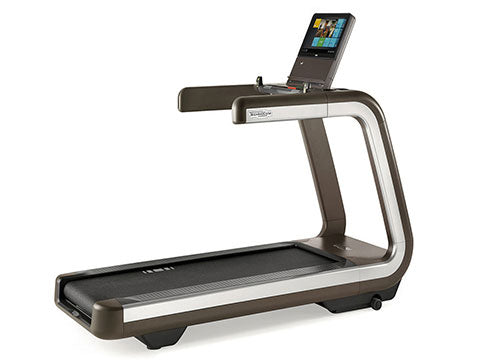 Factory photo of a Refurbished Technogym ARTIS Run Treadmill with U GO Display