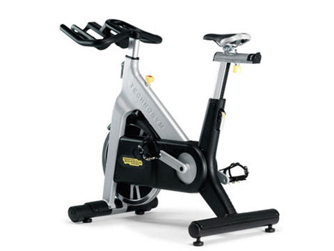 Factory photo of a Refurbished Technogym Belt Drive Indoor Group Cycling Bike