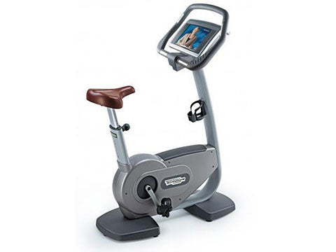 Factory photo of a Used Technogym Excite 700IP Upright Bike with Wellness TV