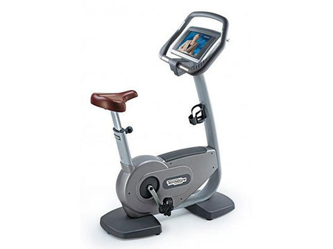 Factory photo of a Refurbished Technogym Excite 700iSP Upright Bike with Wellness TV