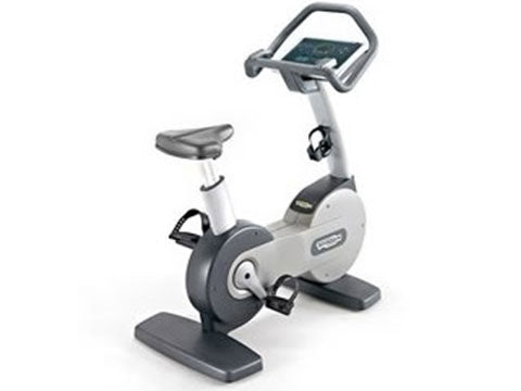 Factory photo of a Refurbished Technogym Excite 700SP Upright Bike with TV