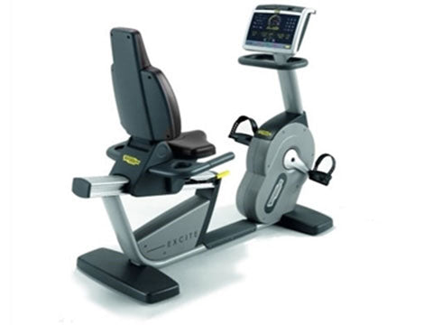 Factory photo of a Refurbished Technogym Excite Recline 700LED Recumbent Bike