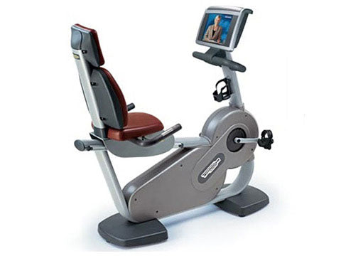 Factory photo of a Refurbished Technogym Excite Recline 700WEB Recumbent Bike