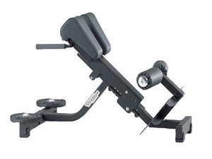 Factory photo of a Used Technogym Pure Strength 45 Degree Hyperextension Bench