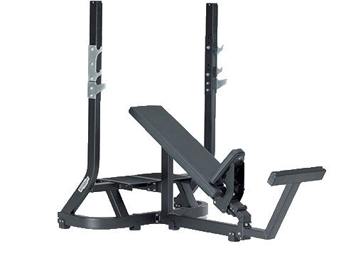 Factory photo of a Refurbished Technogym Pure Strength Olympic Incline Bench