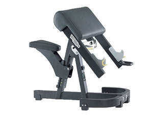 Factory photo of a Used Technogym Pure Strength Preacher Curl Bench