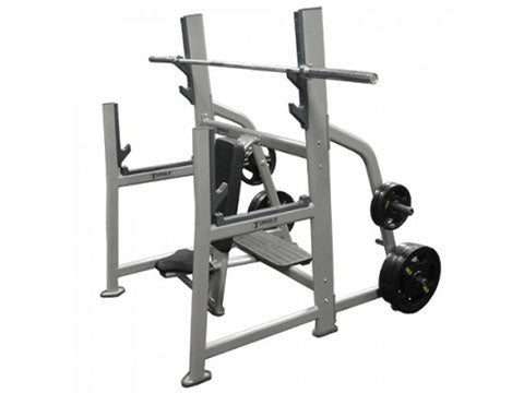 Factory photo of a New Torque Olympic Military Bench