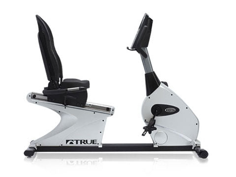Factory photo of a Refurbished True Fitness 750R Recumbent Bike