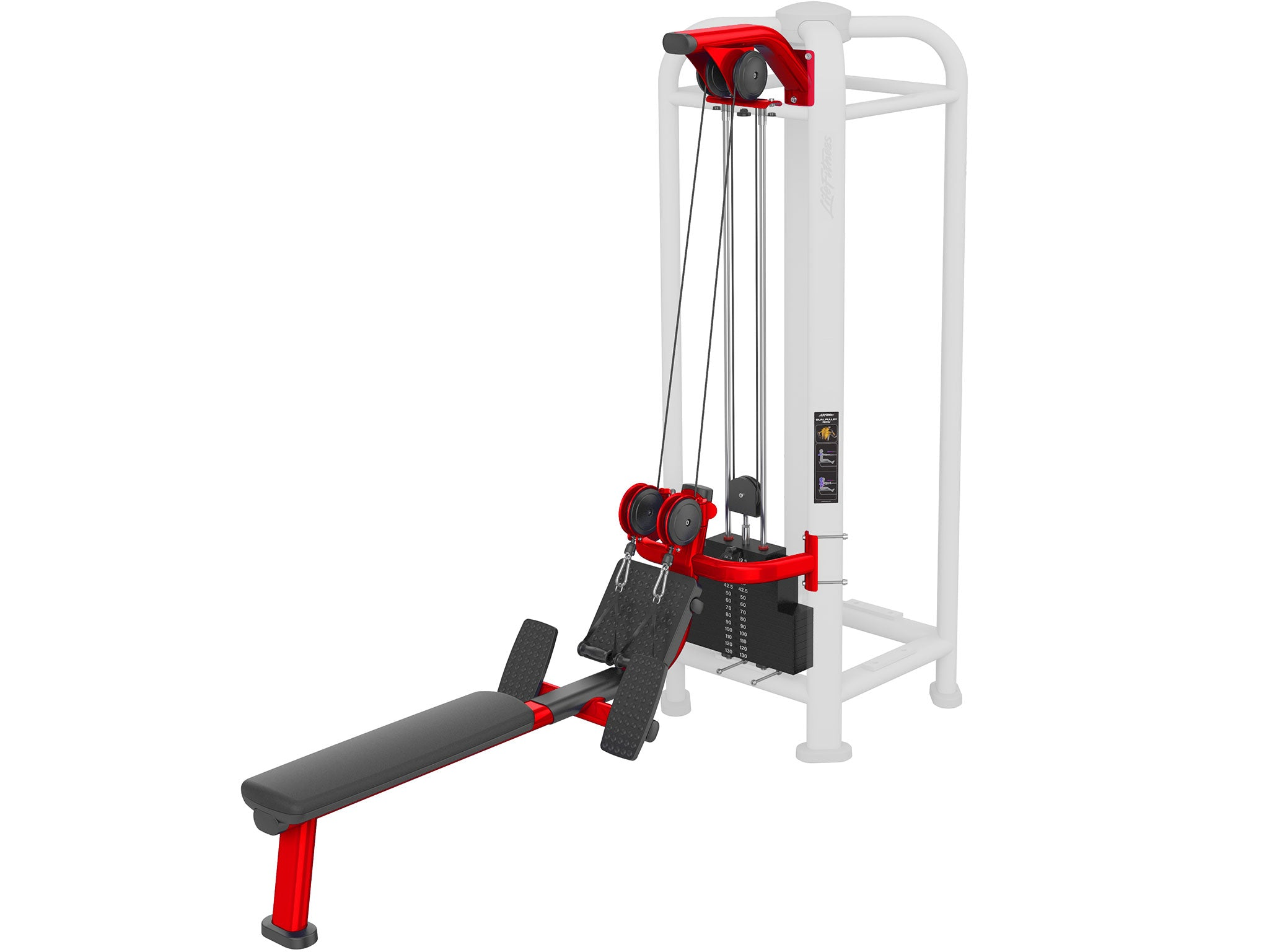 Factory image of a Life Fitness Signature Multi Jungle Dual Pulley Row Station