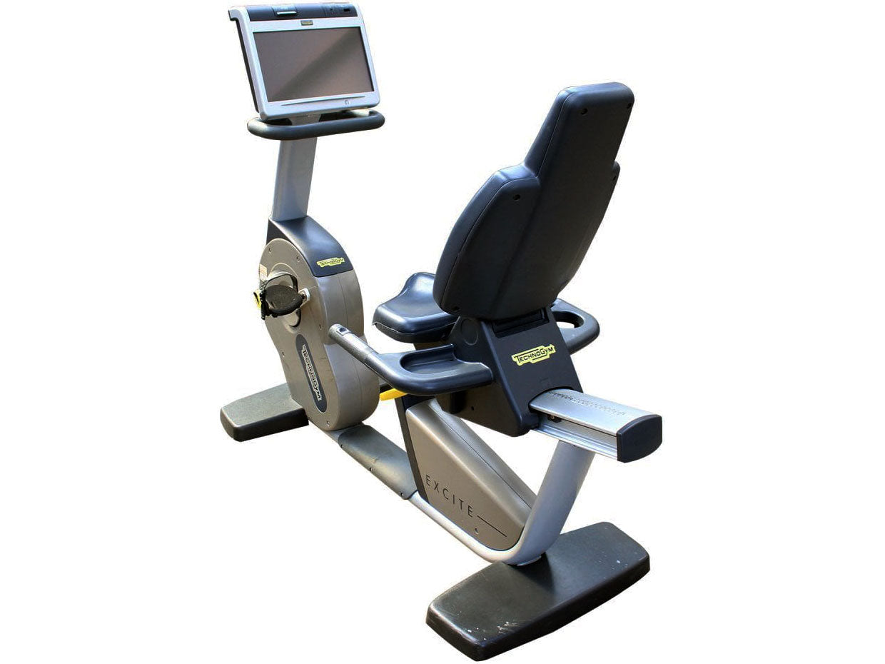 Used Technogym Excite Recline 700 Recumbent Bike with VisioWeb Display
